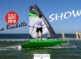 Une personne essai le petit bateau Maverick Grand Pavois. La Rochelle, le 18 09 2019. PHOTO XAVIER LEOTY XL 2019:06:22 11:34:3822/06/201922/06/201917/09/201913:58:52 HP
